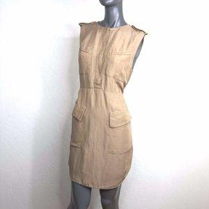 3.1 Phillip Lim Linen Pockets Safari Dress Tan 6